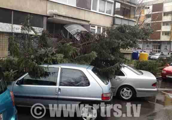 Nevrijeme zahvatilo RS: Olujni vjetar obarao stabla, oštećenja i na krovovima kuća