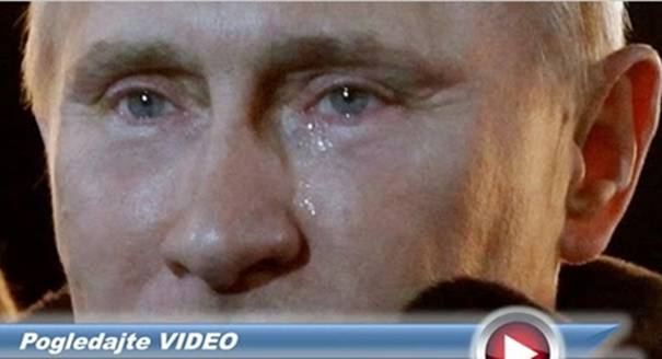 """Pogledajte šta je natjeralo """"čeličnog"""" Putina da pred kamerama zaplače…"""