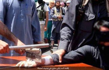 SATAROM SU ODSIJEKLI RUKU LOPOVU: Ovako džihadisti kažnjavaju svoje zarobljenike (UZNEMIRUJUĆI SADRŽAJ)
