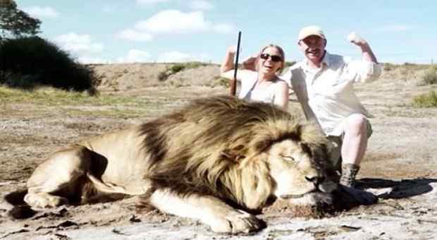 Muž i žena su se slikali pokraj mrtvog lava, a onda je uslijedio pravi ŠOK