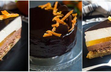 Mousse torta od čokolade, naranče i lješnjaka