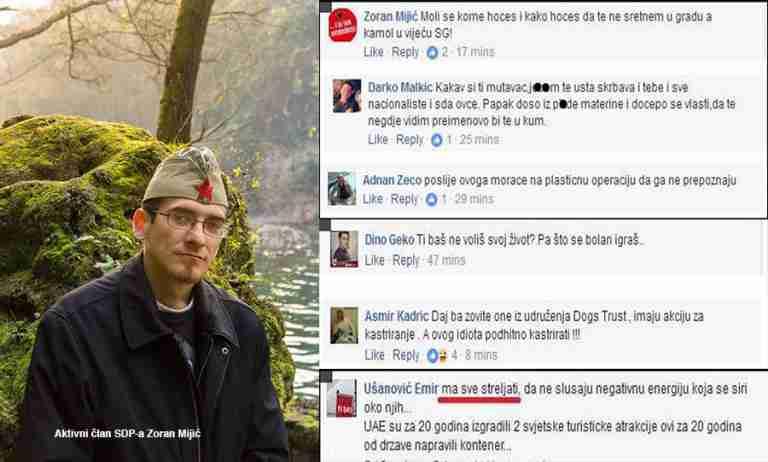 Titini simpatizeri prijete Tariku Dautoviću: Strijeljanjem, vješanjem, kastracijom, po kratkom postupku…