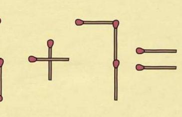 POKUŠAJTE RIJEŠITI: Koju šibicu treba da pomjerite da dobijete tačno rješenje?