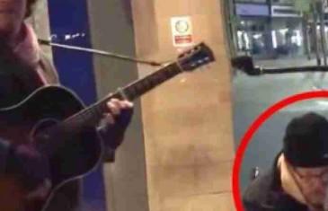 Beskućnik je uzeo mikrofon od uličnog muzičara – Krajnji rezultat će vas ostaviti bez teksta
