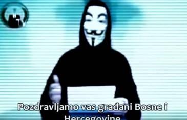 VIDEO: Anonymousi zaprijetili Vladi Bosne i Hercegovine