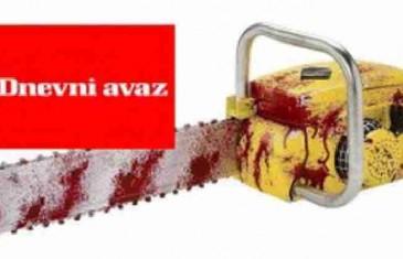 Avazov novinarski masakr motornom pilom (FOTO)