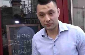 OVAKO SE TO RADI: Vlasnik restorana na ulazu napisao: 'PSI MOGU UĆI, BANKARI NE!'
