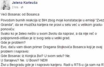 Karleuša popljuvala Bosanca i poslala poruku svima koji je vrijeđaju!