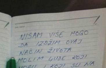 Objavljeno šokantno pismo Goraždanina, koji je digao ruku na sebe