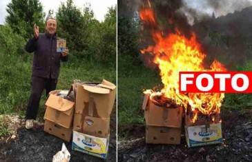 NEVJEROVATNO, MOŽETE SE I SAMI UVJERITI! Pogledajte šta se pojavilo u vatri u kojoj je Rizo Hamidović spalio svoje DVD-ove