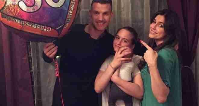 Edin Džeko u društvu kćerkice i prijatelja proslavio 30. rođendan (FOTO)