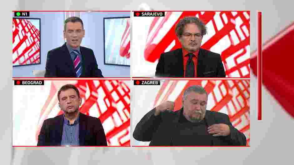 SKANDAL NA N1: Napustio emisiju zbog drugog gosta koji podržava Karadžića!