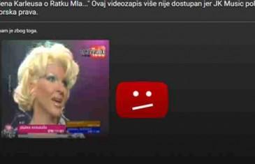 JELENA KARLEUŠA UKLONILA SPORNI VIDEO SA YOUTUBE U KOJEM PODRŽAVA ZLOČINCA RATKA MLADIĆA