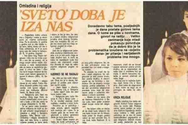Šta su mladi Jugoslaveni zaista mislili o religiji 1976. godine?