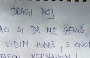 Pismo ostavljene Sanele postao hit na internetu