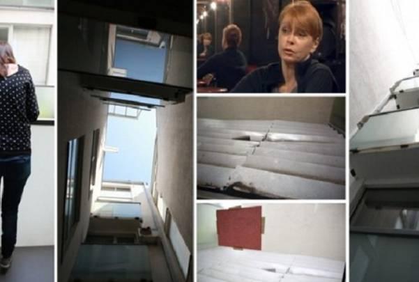 Da li je sa ovakve terase Neda Arnerić mogla da se oklizne i padne?