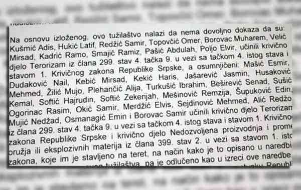 Kraj istrage protiv 31 Bošnjaka: Tužit ćemo RS zbog optužbi za terorizam, život nam je uništen