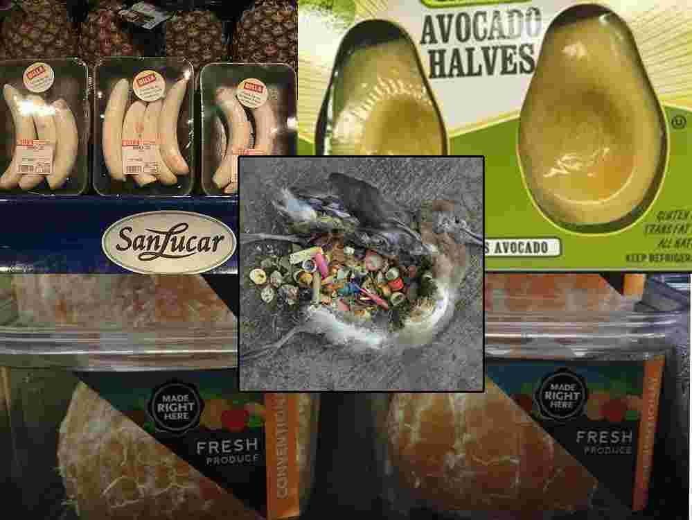 PLASTIČNA SMRT: Oguljene banane i naranče, očišćeni avokado i drugo voće u plastičnom pakiranju