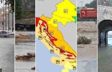 METEOALARM PROGLASIO CRVENU UZBUNU ZA DIJELOVE HRVATSKE: Poplavljen i Hvar, vojska u stanju pripravnosti…