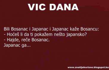 VIC DANA: Bosanac i Japanac