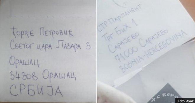 Ekskluzivni detalji: Policija na nogama… Evo odakle je u Parlament BiH stigla koverta s metkom i četničkim simbolom