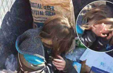 """""""Bosno, da li te je stid?"""" Mala curica u kontejneru u Zenici traži komad hljeba!"""