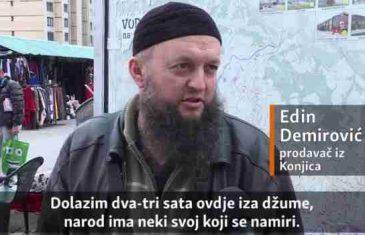'Ne znam kako ljudi gledaju vehabije, to mi u oči još nisu rekli': Zavirite na pijacu ispred džamije kralja Fahda u Sarajevu
