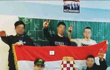 Slika dana: Nova školska sekcija – Veličanja ratnih zločinaca i vježbanje nacističkog pozdrava