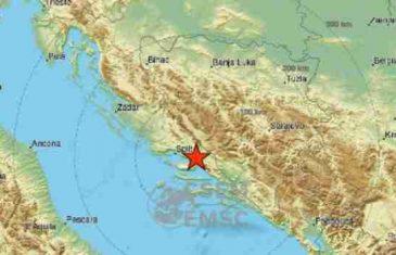 Snažan zemljotres zatresao Dalmaciju, osjetio se i u BiH!