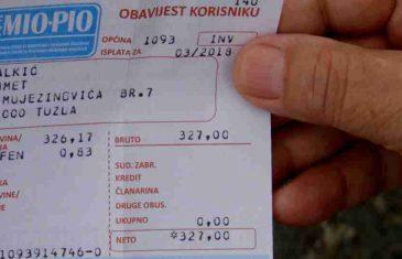 Bilo je i povećanja: Tuzlak Salkić dobio penziju višu za 80 feninga!