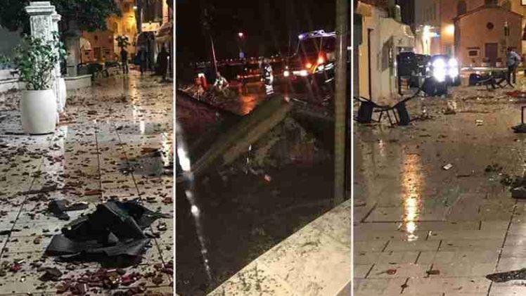 Haos na Jadranu zbog jakog nevremena: Pijavica poharala Umag, u Splitu se odlomio velik dio stabla i pao na automobil