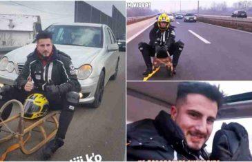 KRAJNJE BAHATO PONAŠANJE: Zbog sankanja po autoputu MUP KS…
