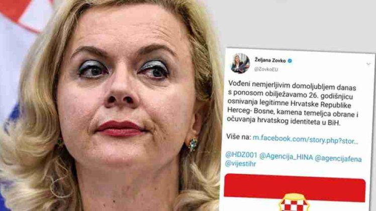"""POLITIČKA PODVALA DRAGANA ČOVIĆA: EU ne zagovara daljnju federalizaciju BiH – to zagovara samo HDZ-ova glasnogovornica Željana Zovko""""!"""