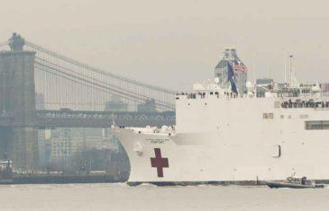 BROD-BOLNICA STIGAO U NJUJORK: Ima 1.000 kreveta, a tu će biti pacijenti koji NE boluju od korone