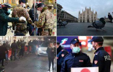 Italija po broju mrtvih prestigla Kinu, kolona kamiona prevozi sanduke: Danas preminulo 427 ljudi, još 5.300 zaraženih