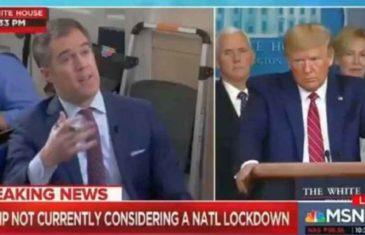 AMERIČKI PREDSJEDNIK PONOVO U CENTRU SKANDALA: Trump verbalno napao novinara NBC-a, koji ga je zamolio za poruku zabrinutoj naciji