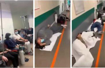 PAMET U GLAVU, OVOLIKO JE OZBILJNO! Bolesni leže po podu bolnice u Španiji, nema ni stolica slobodna!