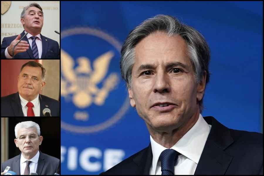 Američki državni sekretar pisao Dodiku, Komšiću i Džaferoviću: Dejton nije uklesan u kamenu, potrebne su mu promjene