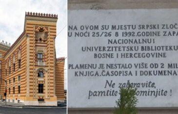 Ako je treba prekrivati, tu nešto ne valja: Da li umjesto 'srpski zločinci' na Vijećnici treba pisati…