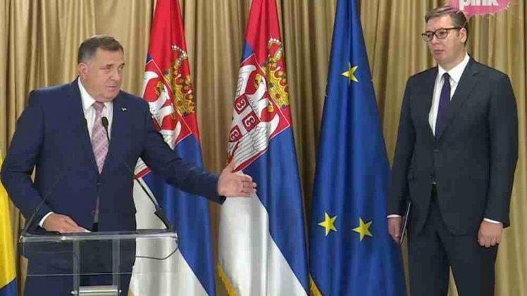 """VUČIĆ NAKON SASTANKA SA DODIKOM: """"Razgovarali smo o spajanju Srbije i Republike Srpske!"""""""